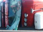 На МКАД, в районе Ждановичей перевернулась фура с пьяным водителем