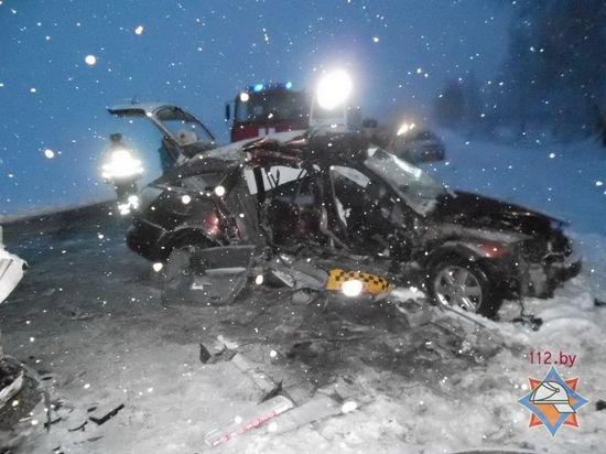 На автодороге Рогачев – Жлобин погиб в ДТП пассажир такси