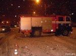 """В Минске """"МАЗ"""" спасателей, следовавший с """"маячками"""" и сиреной на пожар, въехал в Toyota"""