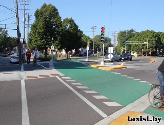 На проспекте Победителей и Независимости велосипедисты смогут не спешиваться - здесь появятся велопереезды