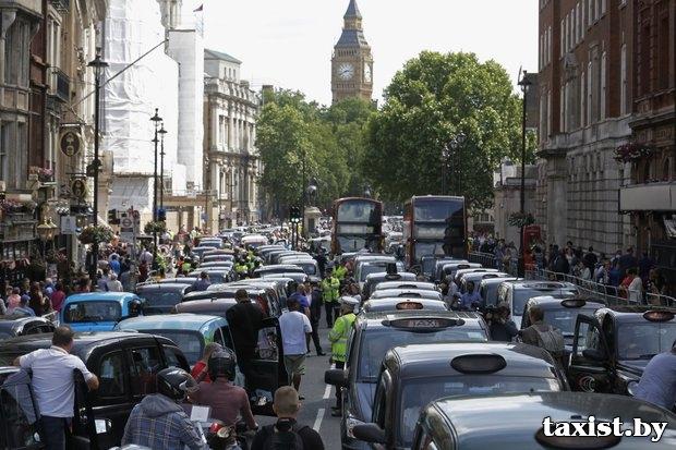 Uber-забастовка в Европе: таксисты крупнейших городов против онлайн-такси